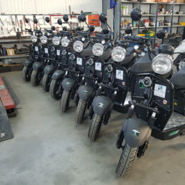 Des scooters disponibles à la location